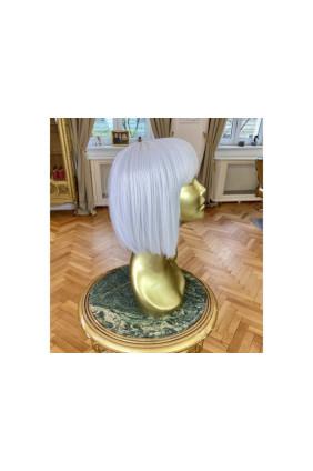 Syntetická paruka s ofinou rovná Fashion Bob - 30-35 cm, bílá blond 61