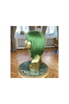 Syntetická paruka s ofinou rovná Fashion Bob - 30-35 cm, Green