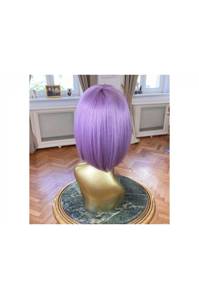 Syntetická paruka s ofinou rovná Fashion Bob - 30-35 cm, Purple