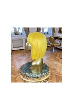 Syntetická paruka s ofinou rovná Fashion Bob - 30-35 cm, Yellow
