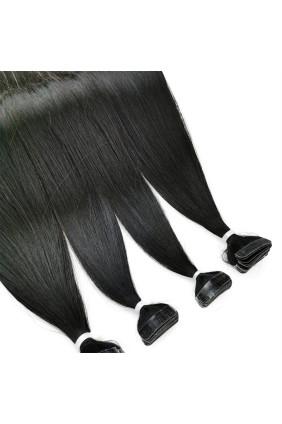 Barvené vlasové pásky ProfiBeauty® - přírodně černá - 1B