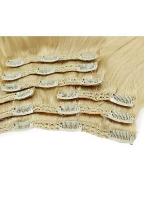 Clip In REMY HOLLYWOOD, 260 g, 50 - 55 cm, nejsvětlejší blond - 613