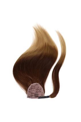 Culík - ponytail - ombre středně hnědá/písková - 4/18, 100 g