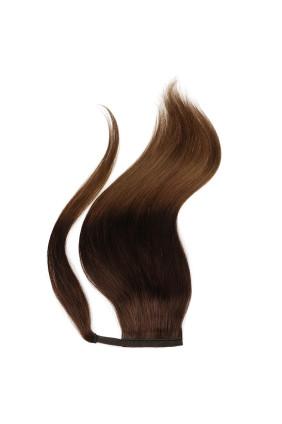 Culík - ponytail - ombre tmavě hnědá/světlý kaštan - 2/6, 100 g
