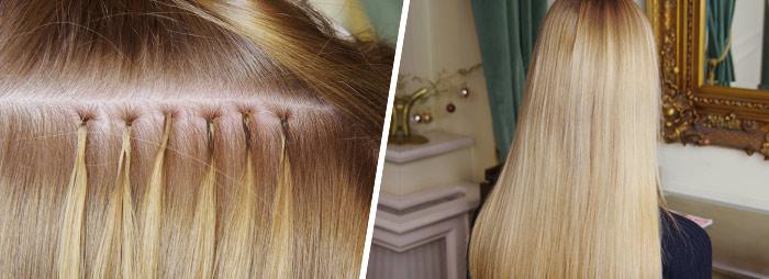 prodloužené vlasy keratinem